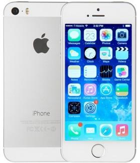 """Apple Iphone 5S 16GB Silver GRADO """"C"""""""